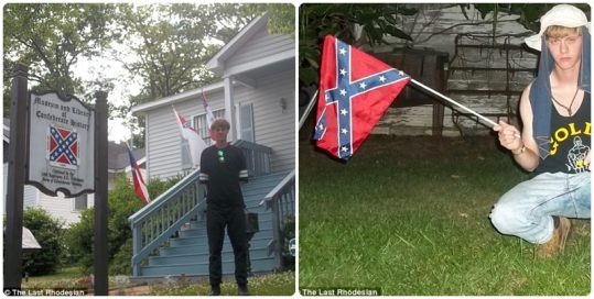 """Dylann Roof showing his """"Southern heritage."""""""